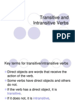1. Transitive and Intertransitive Verbs