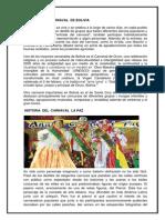 Historia Del Carnaval de Bolivia