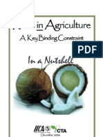 Risks in Agriculture - A Key Binding Constraint