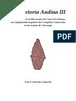Praehistoria Andina 3 Cerro Tres Marias - IsBN 978-612!00!1079-2 (Paginas Seleccionadas)-Libre