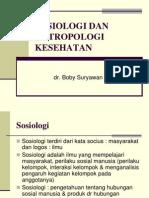 Sosiologi Dan Antropologi Kesehatan