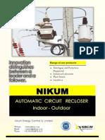 Auto Recloser Brochure Nikum