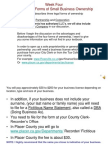 Chapter 3 - Forms of Small Business Ownership