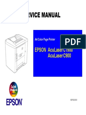Epson AcuLaser C900 C1900 Parts and Service Manual | Printer