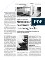 Metodo Para Desalinizar Agua Con Energia Solar