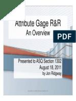 Attribute Gage RR Ridgway