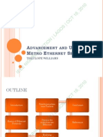 Advancement and Use of Metro Ethernet Services