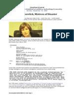 Jamie Gorelick, Mistress of Disaster