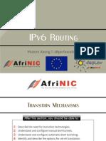 IPv6 Transition Techniques