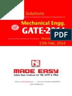 GATE 2014 ME (15 Feb Morning Session)
