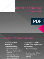 Lecture 13-Speech and Language Disorders