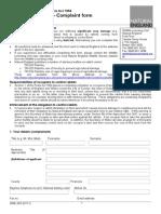 Rabbit Complaint form Defra.doc