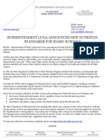 New Nutrition Standards, August 31, 2009