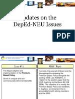 GSIS - DepEd-NEU Dialogue Update