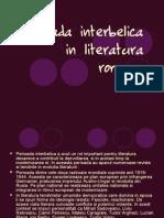 Perioada Interbelica in Literatura Romana2