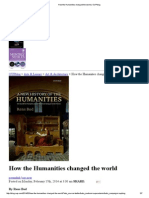 How the Humanities Changed the World _ OUPblog