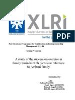 Family Sucession - Ambani Family