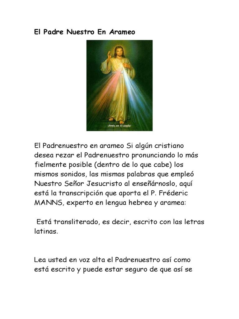 El Padre Nuestro En Arameo