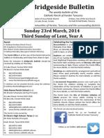2014-03-23 - 3rd Lent A