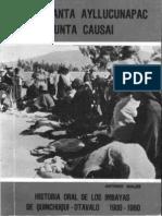 Males, Antonio. Historia Oral de los Imbayas de Quinchuquí 1900-1960