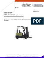 NM228 Quatation for Battery Operated Fork Lift