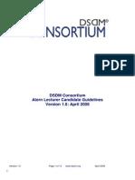 Atern Lecturer Candidate Guidelines v1 0 April 2008