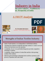 Textile Industry in India Swot