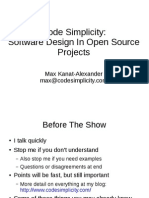 Code Simplicity Open Source Design