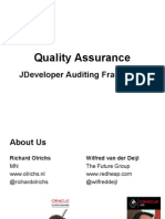 jdeveloper Auditing framework