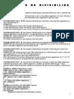 CRITÉRIOS DE DIVISIBILIDADE (2)