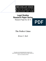 Brian C. Kalt-The Perfect Crime