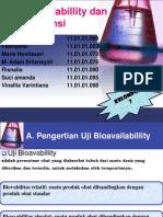 Uji Bioavabillity Dan Biavalensi