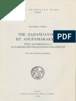 Sferra, F. - The Sadangayoga by Anupamaraksita