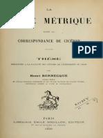1898 Bornecque, La prose metrique dans la correspondance de Cicéron