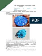 CuSo4 Sulfato de Cobre Casero