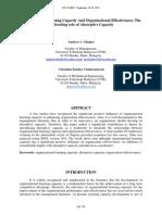 Organizational Learning Capacity And Organizational Effectiveness