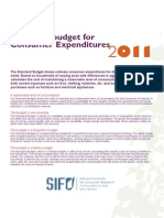Standard Budget for Consumer Expenditures