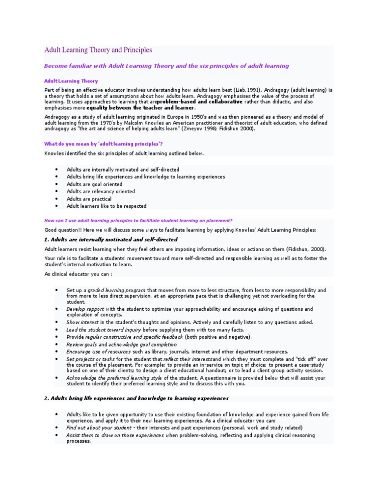 Adult learning theory study picture 616