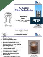 CDR Cansat 2011 Team 20 Jetfire