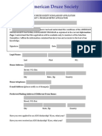 2014 ADS Scholarship Application