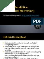 motivasi pendidikan