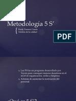 Metodología 5 S' Fredy Tornero Conde