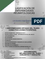 Clasificación de enfermedades Reumatológicas