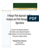 A Margin Risk Approach to Risk Analysis and Risk Management in Ag