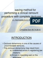 Time Saving Method for Clinical Remount of C.D