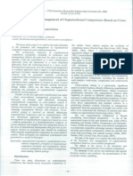 The Formation and Management of Organizational Competence Based on Cross- Cultural Perspective