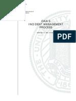 OAAIS Incident Management