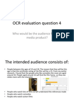 OCR Evaluation Question 4 - AS media