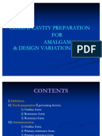 52589890 Class II Amalgam Cavity Preparation for Amalgam