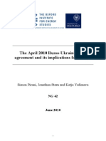 The April 2010 Russo-Ukrainian Gas Agreement and Its Implications for Europe